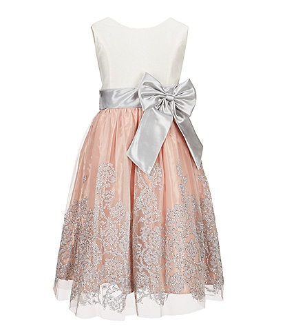 Jayne Copeland Big Girls 7-12 Bow-Waist Beaded Fit-and-Flare Dress