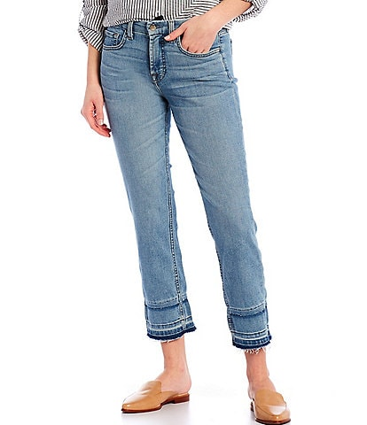 JEN7 by 7 for All Mankind Double Released Hem Ankle Straight Leg Jeans