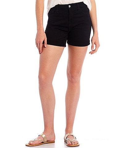 JEN7 by 7 for All Mankind Mid Rise Rolled Hem Slim Fit Shorts