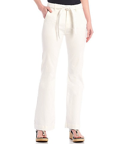 JEN7 by 7 for All Mankind Tailorless Belted High Rise Trouser Jeans