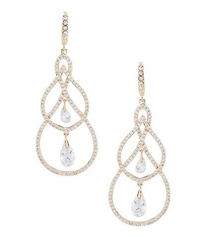 Jenny Packham Crystal Pave Orbital Earrings