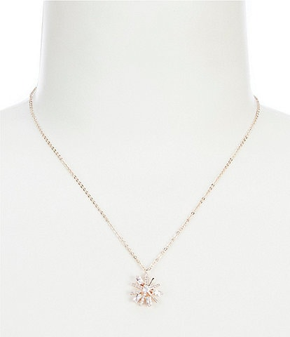Jenny Packham Crystal Starburst Pendant Necklace