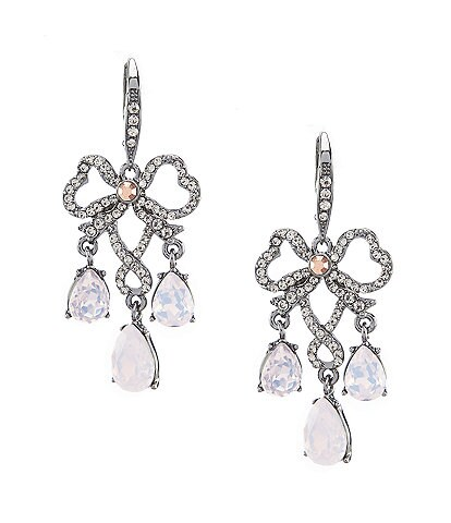 Jenny Packham Hematite Bow Chandelier Earrings