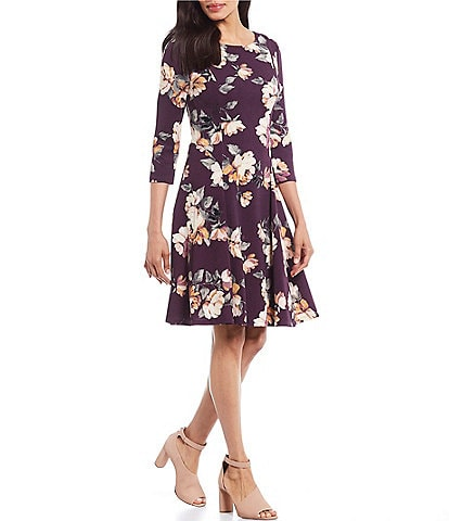 Jessica Howard Floral Print A-Line Dress