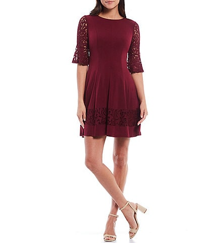 Jessica Howard Petite Bell Sleeve Fit-and-Flare Dress