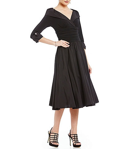 49bfcd5c2ec Jessica Howard Portrait Collar Midi Dress