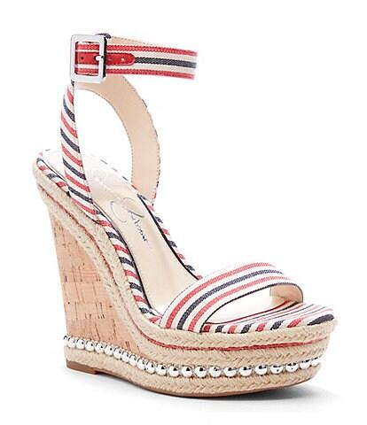 Jessica Simpson Alinda Studded Wedge Sandals
