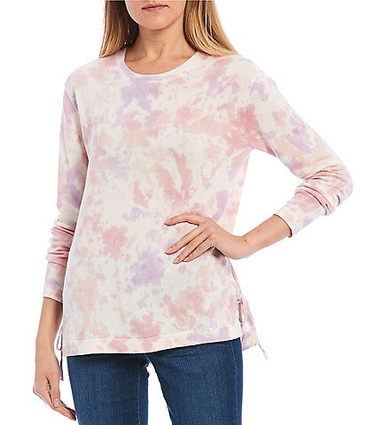 Jessica Simpson Amara Tie Dye Long Sleeve Top