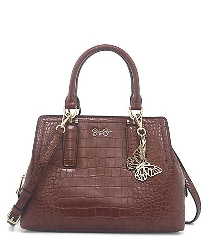 Jessica Simpson Aubrie Butterfly Crocodile-Embossed Satchel