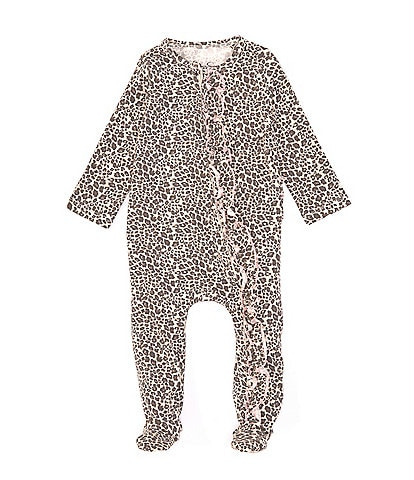 Jessica Simpson Baby Girls Newborn-9 Months Leopard-Print Footed Coverall