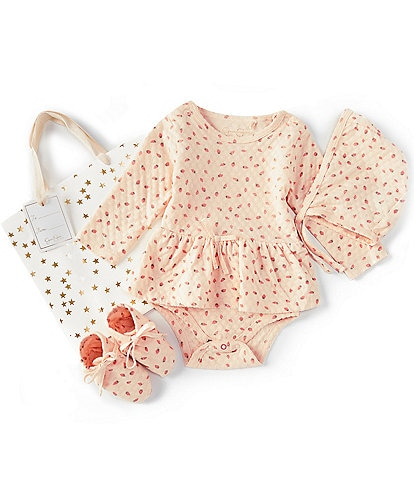 Jessica Simpson Baby Girls Newborn-9 Months Strawberries Layette Set