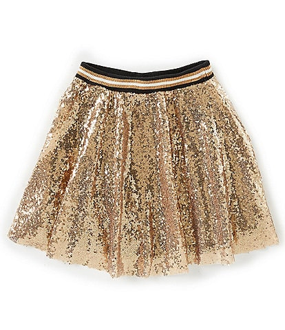 Jessica Simpson Big Girls 7-16 Arianna Sequin Flared A-Line Mini Skirt