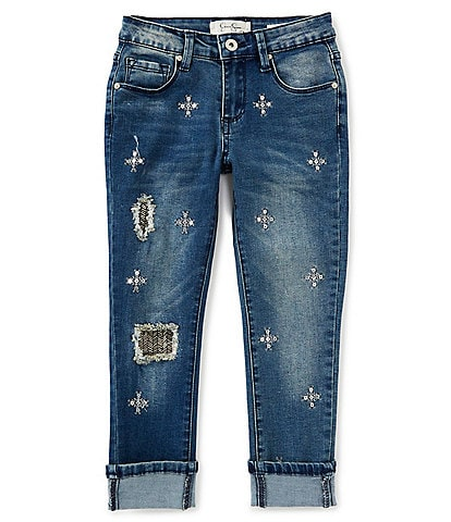 Jessica Simpson Big Girls 7-16 Kiss Me Cuffed Jeans