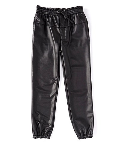 Jessica Simpson Big Girls 7-16 Paperbag-Waist Pleather Jogger Pants