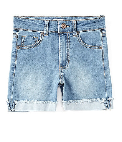 Jessica Simpson Big Girls 7-16 Roll-Cuff Denim Shorts