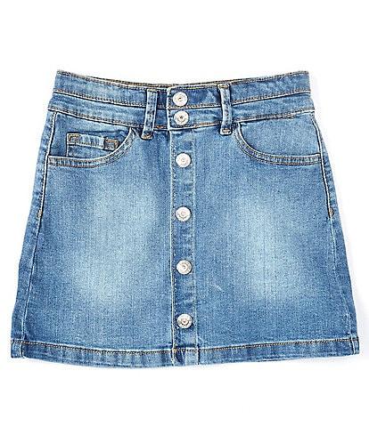 Jessica Simpson Big Girls 7-16 #double;Rue#double; Button Front Stretch Denim Skirt