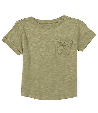 Jessica Simpson Big Girls 7-16 Short-Sleeve Bow-Accented-Pocket Tee