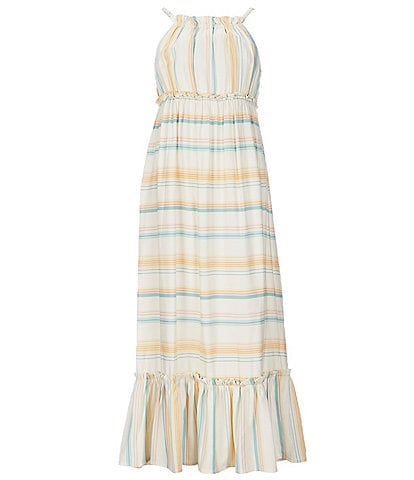 Jessica Simpson Big Girls 7-16 Striped Ruffle-Hem Sun Dress