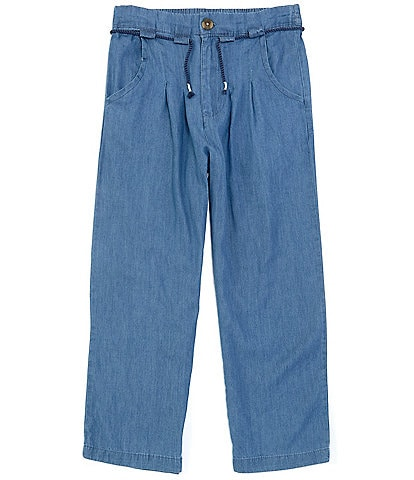 Jessica Simpson Big Girls 7-16 Tie-Waist Denim Cropped Pants