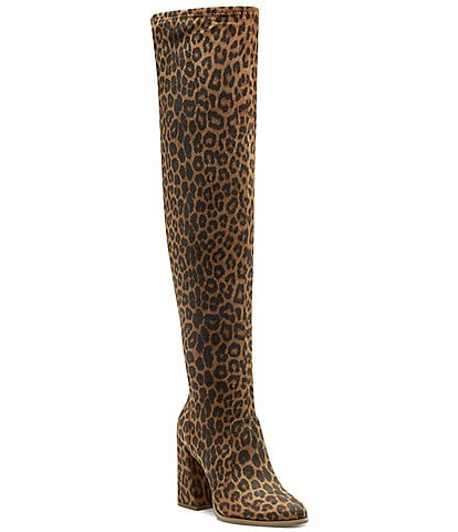 Jessica Simpson Brixten Leopard Print Over-the-Knee Boots