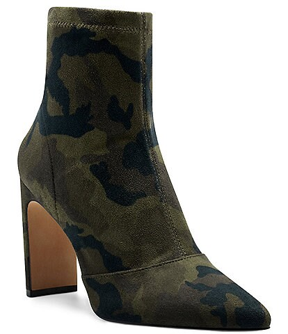 Jessica Simpson Briyanne Camo Stretch Booties