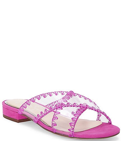 Jessica Simpson Cabrie Clear Whip Stitch Flat Sandals