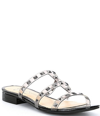 Jessica Simpson Caira2 Studded Clear & Cork Sandals