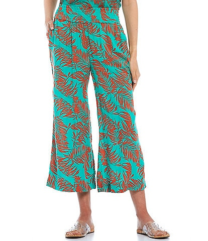 Jessica Simpson Coordinating Senna Printed High Rise Wide Leg Pants