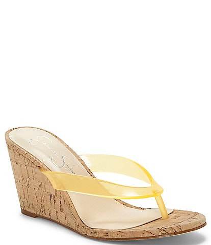 Jessica Simpson Coyrie2 Clear Thong Wedges