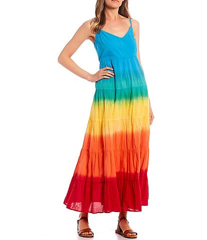 Jessica Simpson Herbs Ombre Tiered Maxi Dress