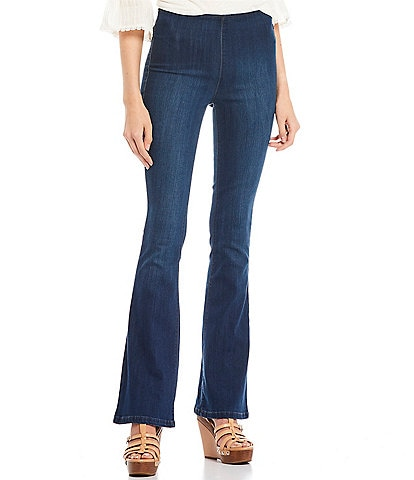 Jessica Simpson High Rise Pull On Flare Pants