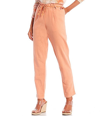 Jessica Simpson High-Rise Tapered Beach Pants