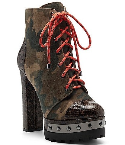 Jessica Simpson Irella Camo Platform Hikers