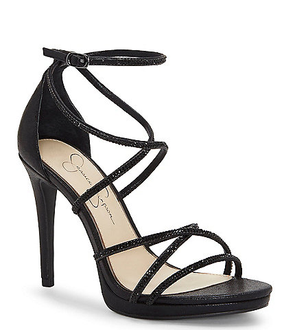 Jessica Simpson Jaeya Rhinestone Strappy Dress Sandals
