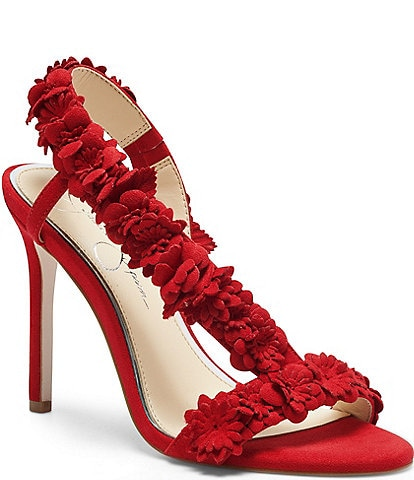 Jessica Simpson Jessin Floral Detail Dress Sandals