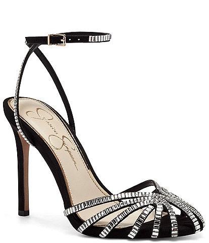 Jessica Simpson Jileta Jewel Embellished Dress Sandals