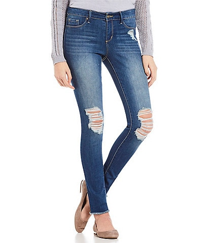 Jessica Simpson Kiss Me Dark Super Skinny Jeans