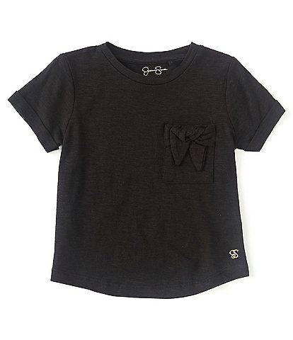 Jessica Simpson Little Girls 4-6X Short-Sleeve Bow-Accented-Pocket Tee