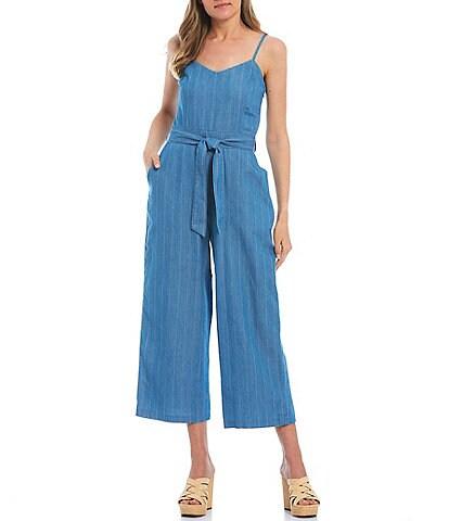 Jessica Simpson Lola Stripe Belted Jumpsuit
