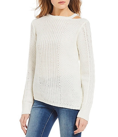 Jessica Simpson Oasis Long-Sleeve Lightweight Knit Pullover Sweater