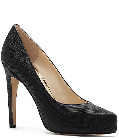 Jessica Simpson Parisah Snake Embossed Platform Pumps