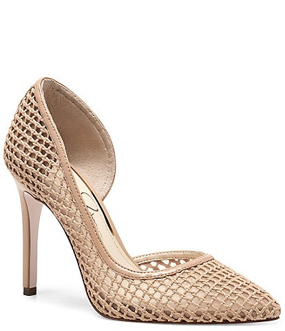 Jessica Simpson Pieree d'Orsay Woven Pumps