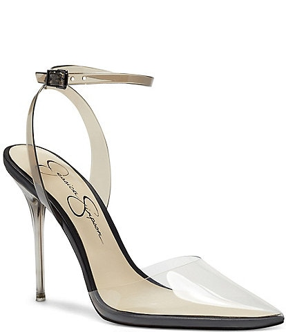 Jessica Simpson Pirrie Point Toe Ankle Strap Pumps
