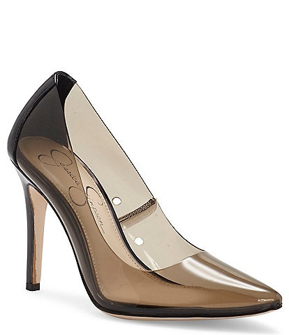 Jessica Simpson Pixera2 Clear Stiletto Pointed Toe Pumps