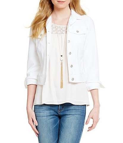 Jessica Simpson Pixie Knit Denim Jacket