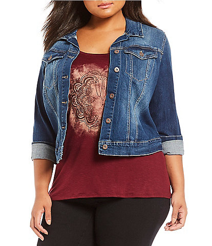 Jessica Simpson Plus Pixie Denim Jacket