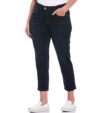 Jessica Simpson Plus Size Mika Best Friend Slouchy Skinny Roll Cuff Ankle Jeans