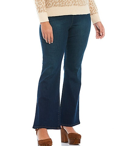 Jessica Simpson Plus Size Stretch Pull-On Flare Leg Jeans