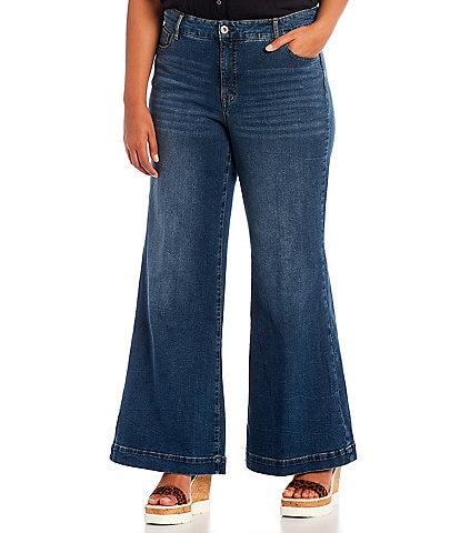 Jessica Simpson Plus Size True Love Wide Leg Trouser Jeans