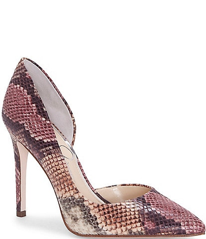 Jessica Simpson Prizma d'Orsay Snake Print Pumps